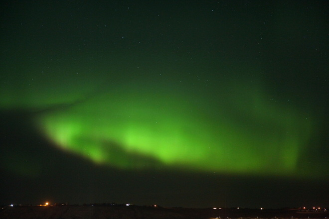 Northern lights in Cochrane Cochrane, AB