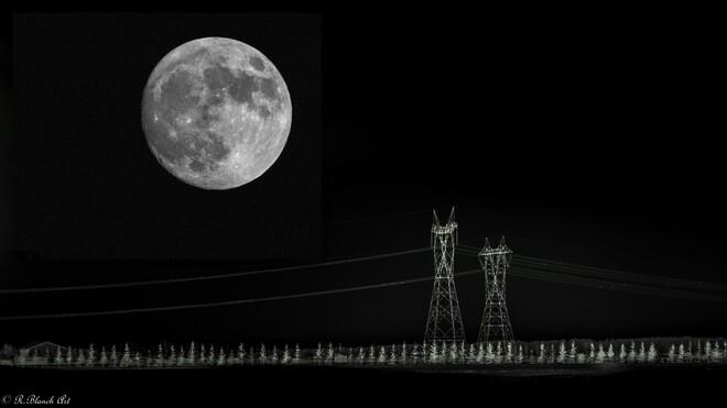 Pleine lune d'avril Terrebonne, QC