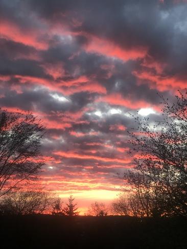 May 6 2021 sunset. Peterborough, ON