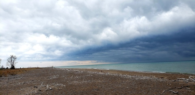 storm on the beach Rondeau Park, ON