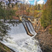 Parc de la Gorge de la Coaticook, le barrage!