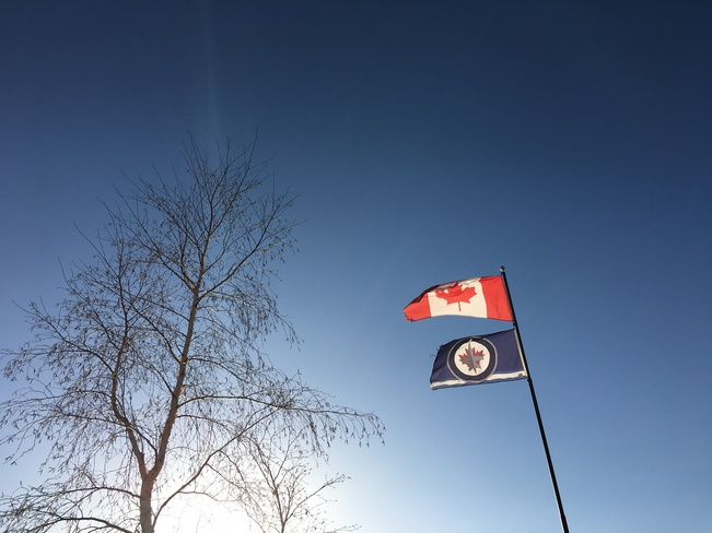 Canadian & Winnipeg Jets Flags Rossburn, Manitoba