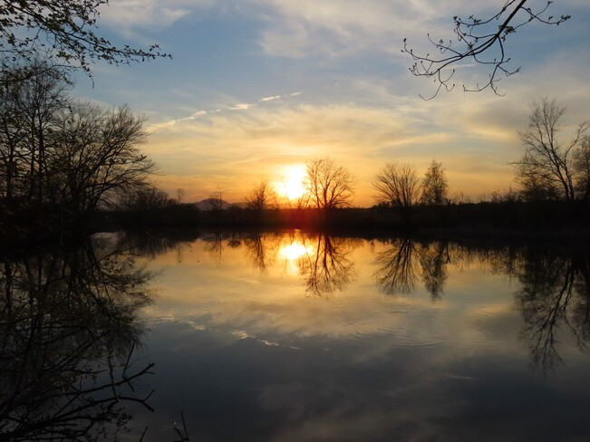 Coucher de soleil Lac Magog, Québec