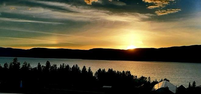 Summer Hill winery sunset Kelowna, BC