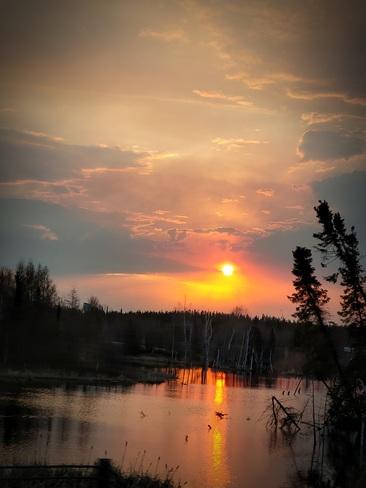 Morning sun Thompson, Manitoba