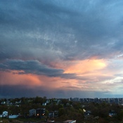 Sky after thunder storm