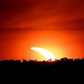 Solar Eclipse at Sunrise