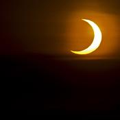Annular solar eclipse 5:40 am Oshawa.