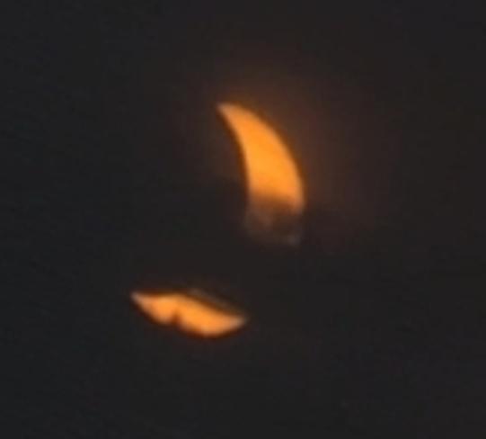 the eclipse this mornin Elliot Lake, ON