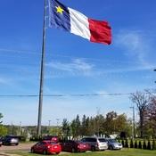 Largest Acadian flag