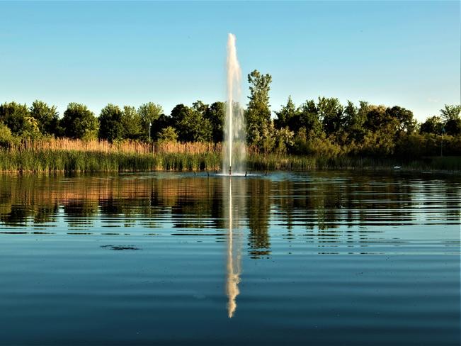 Water fountain Woodbine Beach Park, ON