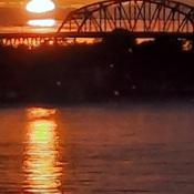 Sunrise over the Peace Bridge