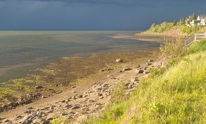 storm approaching Grande-Digue, NB