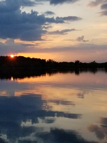 Sunset ~ 8:29 p.m. Codes Corners, ON