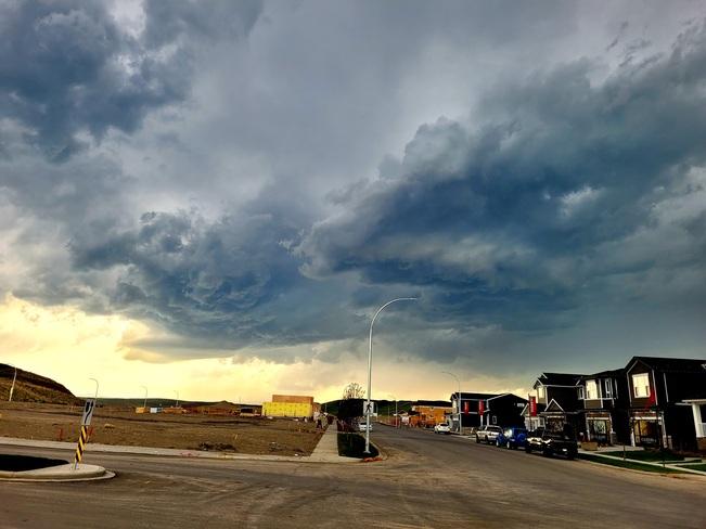 Thunderstorm Forming Cochrane, AB