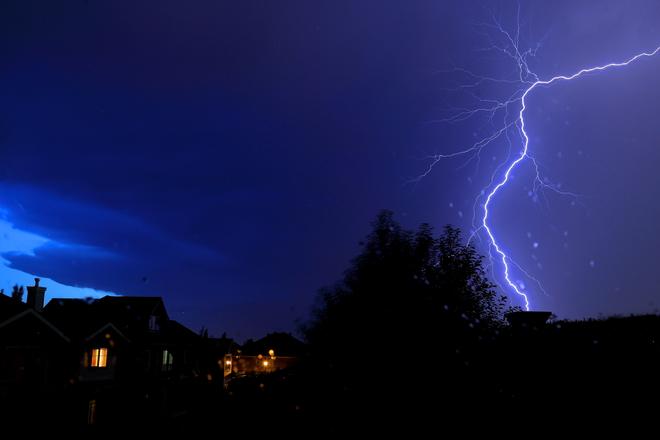 The thunderstorm Edmonton, AB