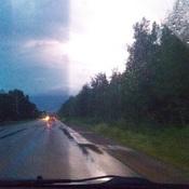 lightning strike in Petit-rocher.