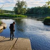 Bob enjoying the Grand River.