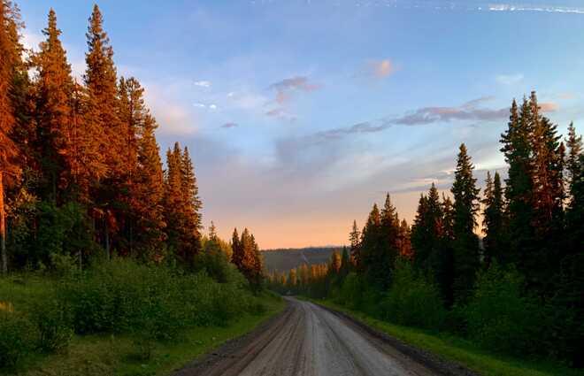 Summer Sunset Sikanni Chief, British Columbia, Canada