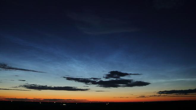 Noctilucent Clouds Morningside, Alberta, Canada