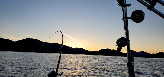 beautiful evening fishing Hartley Bay, BC