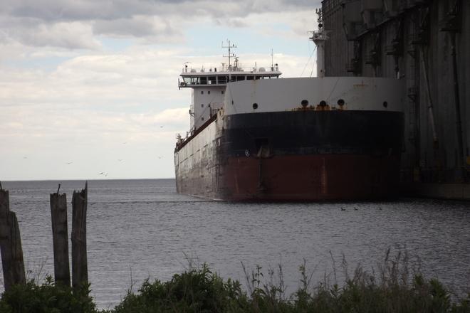 SHIP coming into PORT Shipyard Rd, Thunder Bay, ON P7A, Canada