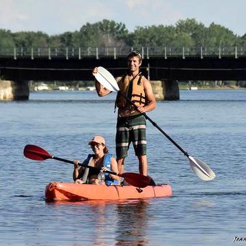 New style kayaking...
