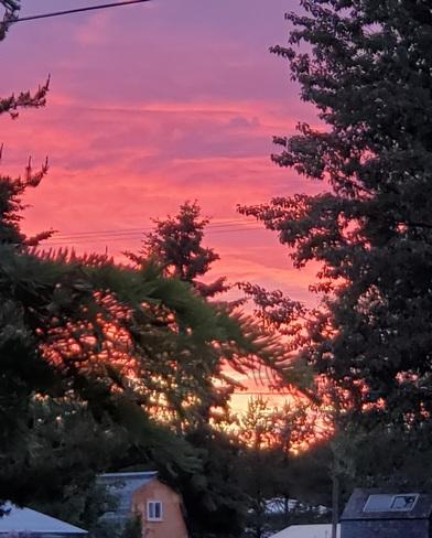 Sunset from home Fort Fraser, BC