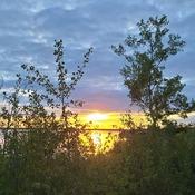 Camp site sunset