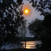 Almost a full moon last night