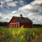 Une grange rouge