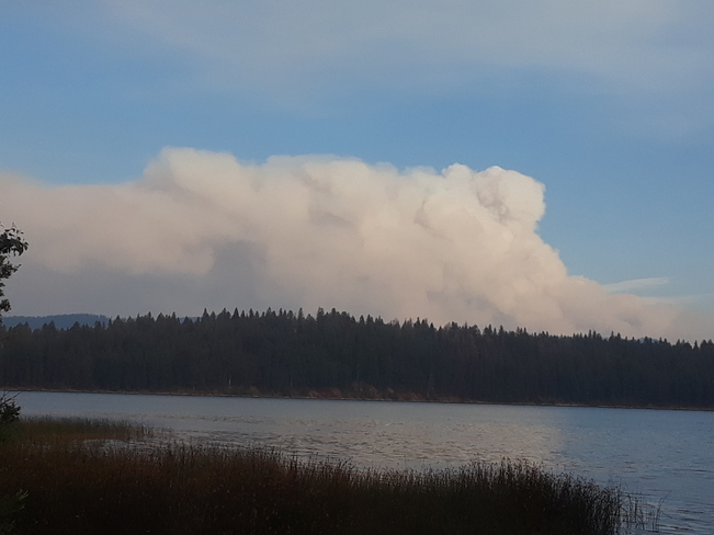 White Rock Lake Wildfire Kamloops, BC