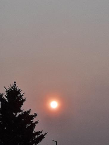 sunrise Looks like the smoke is back 7c North Red Deer, AB