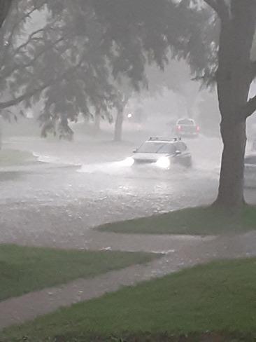 Street Flooded Niagara Falls, ON
