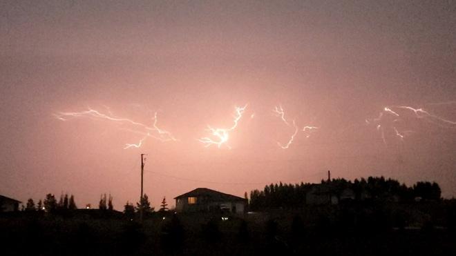 Lightning from last night Beach Corner, AB