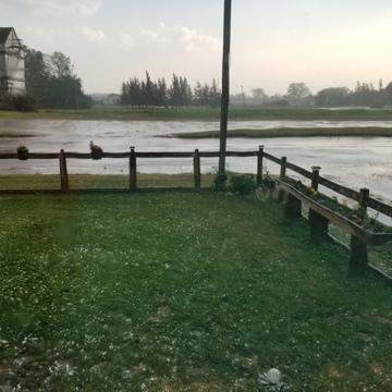 quick hail storm