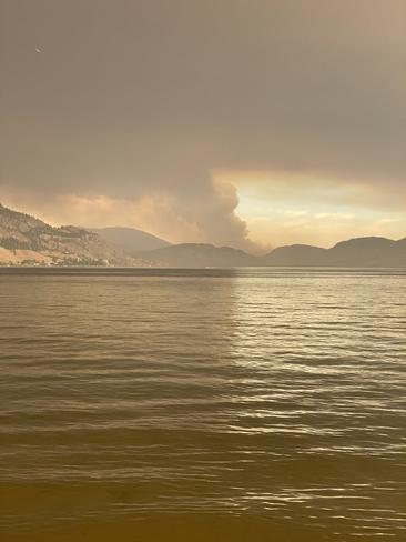Smoky skies Penticton, British Columbia, CA