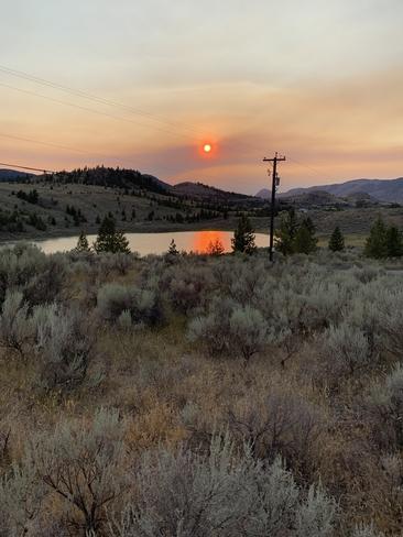 Sunset in smoke Kamloops, British Columbia | V2C 6W1