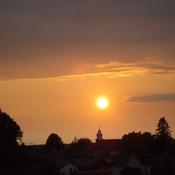 SUNSET at 9;25PM