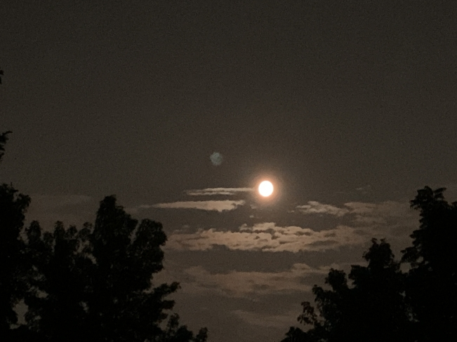 Day before full moon Markham, Ontario, CA