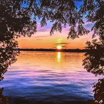 sunset at bass lake