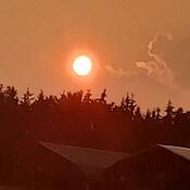 Sunset thru the storm