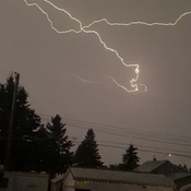 Lightning in Ponoka