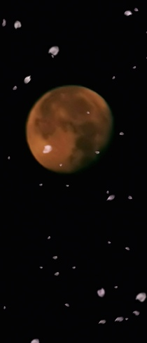 la lune,ce matin à Joliette Joliette, QC