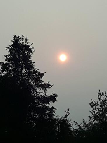 Smoke Hazed Sun Osgoode, Ottawa, Ontario