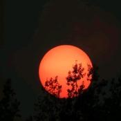 Beau coucher du soleil, Portneuf-sur- Mer