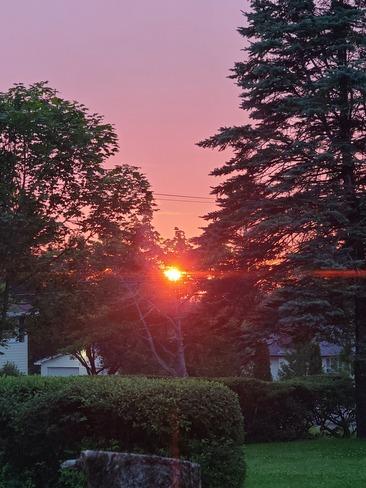 beautiful sunset Saint John, NB