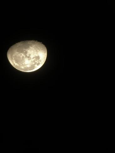 Late night moon Morden, Manitoba, CA