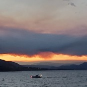 Sunset Okanagan Lake