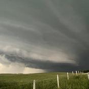 Shelf formation near Red Deer, Alberta